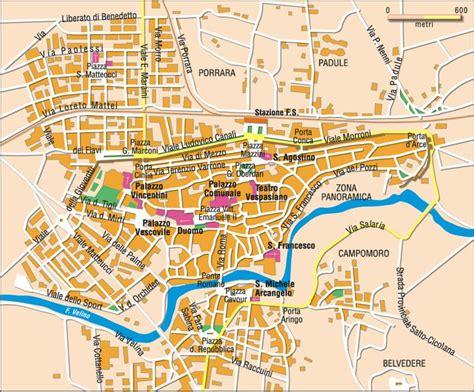 di rieti mappa di rieti cartina di rieti