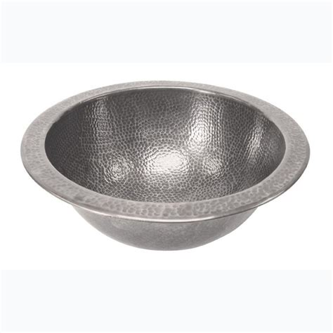 pewter bathroom sinks barclay products self rimming round bathroom sink in hammered pewter 6723 pe the