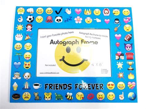 christmas emoji photoframe multi emoji frame bunk junk 174 autograph frames