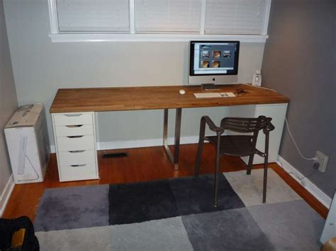 Countertop Desk Ideas Ikea Desk Countertop Hack For The Home Pinterest
