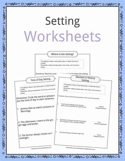 story setting template story setting worksheets worksheets for school roostanama