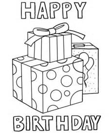 happy birthday coloring card happy birthday coloring pages birthdays