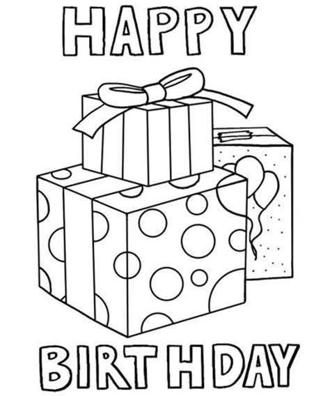 coloring page birthday card happy birthday coloring pages birthdays