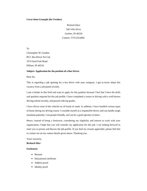 City Driver Cover Letter by City Driver Cover Letter Cover Letter