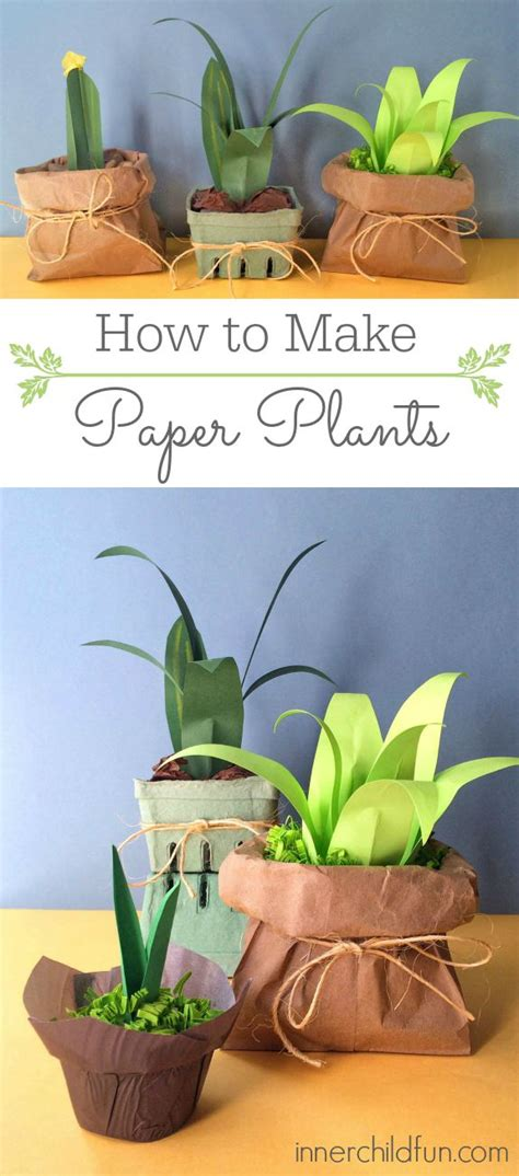 How To Make Paper Bushes - how to make paper plants easy inner child