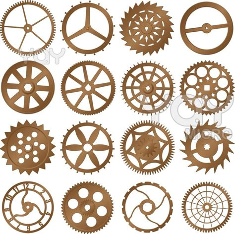 printable clock gears clock gears tattoo pinterest shape gears and colors