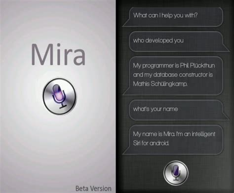 does android something like siri mira android app a siri like voice assistant app the android soul