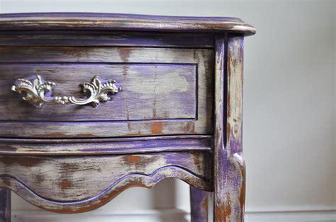 chalk paint purple purple chalk painted bohemian nightstand rustic