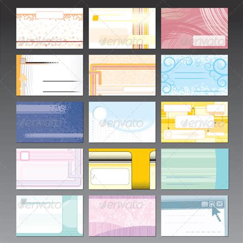 Graphicriver Gift Card Template by Stock Vector Graphicriver Set Of Business Card Design