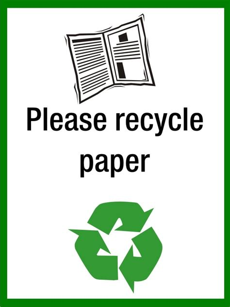 Recycle Paper - recycle paper sign sk signs labels recycling signs