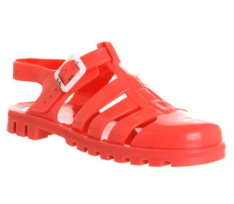 Jelly Shoes Sale 10 juju maxi low jelly shoes coral sandals