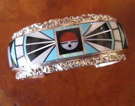 how to make inlay jewelry zuni jewelry cuff bracelet silver and inlay by j esalico