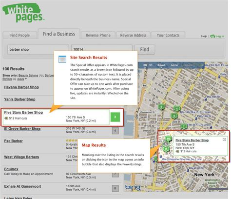 Yahoo Search White Pages Yext Powerlistings Whitepages