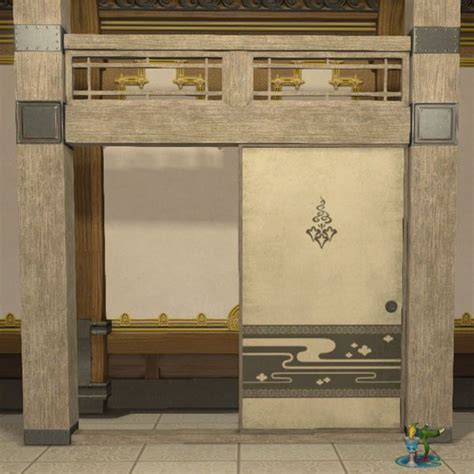 Home Wall Decoration Oriental Partition Ffxiv Housing Furnishing