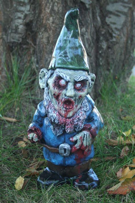 lawn gnome undead garden decor zombie lawn gnome