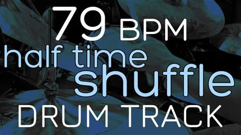 80 bpm shuffle beat drum track half time shuffle 79 bpm drums tracker