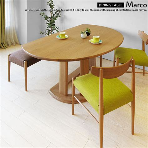 Half Circle Dining Table Joystyle Interior Rakuten Global Market The Oak Wood Oak Solid Wood Oak Wood Width