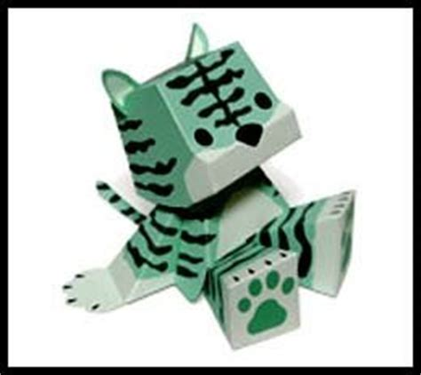 Toys With Paper - papercraft toys mint tiger paperkraft net free