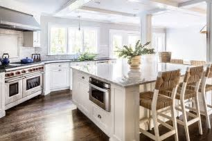 Large Center Island with Microwave Drawer   Transitional