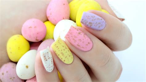easiest nail easiest easter nails speckled eggs nail