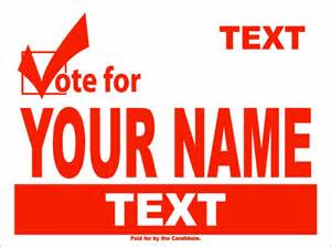 political yard sign template political and election yard signs templates a g e graphics