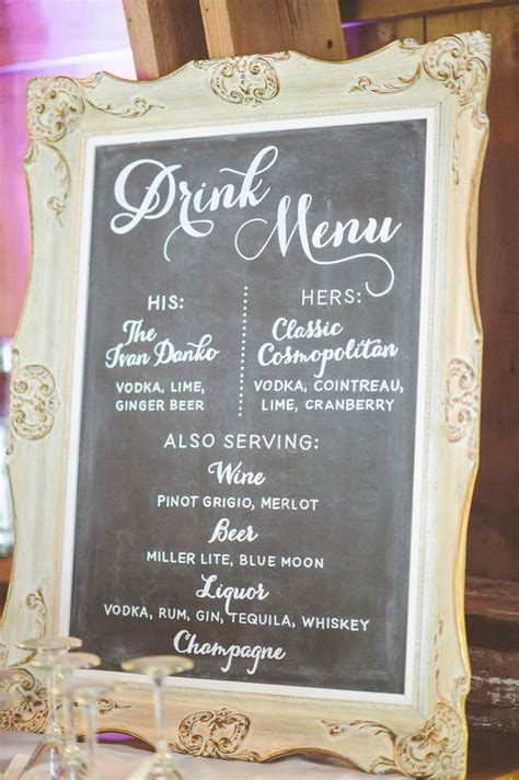 25 best ideas about wedding drink menu on pinterest