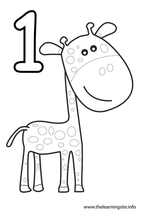 Coloring Pages Number 1 number 1 outline coloring pages