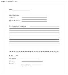 Complaint Form Template by Customer Complaint Form In Pdf Sle Templates