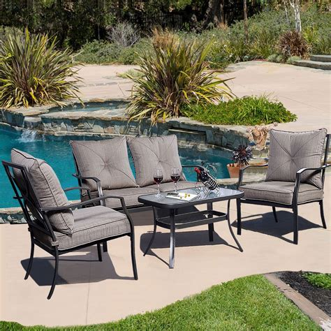 Patio Chair Set Of 4 by Convenience Boutique Outdoor Patio Furniture Set Tea Table