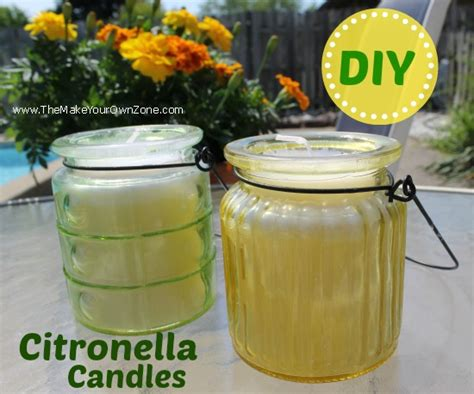 handmade scented candles citronella and lemonade diy citronella candles the make your own zone