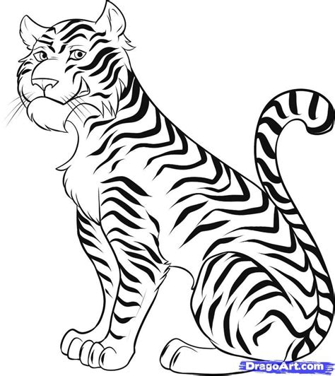 cartoon tiger coloring page cartoon tiger picture az coloring pages