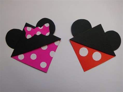 Origami Mickey Mouse - 25 best ideas about corner bookmarks on