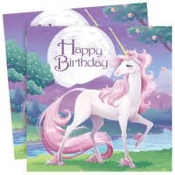 Hanukkah Decorations Unicorn Fantasy Happy Birthday 3 Ply Party Napkins For