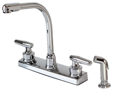 kitchen faucets 4 plastic hardware house two handle kitchen faucet chrome