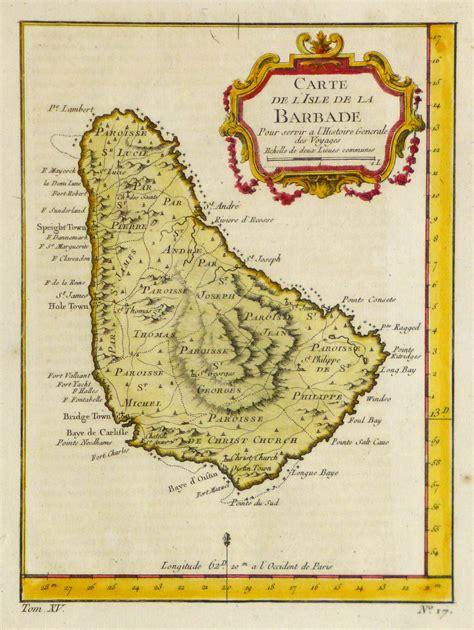 map  barbados  original art antique maps prints