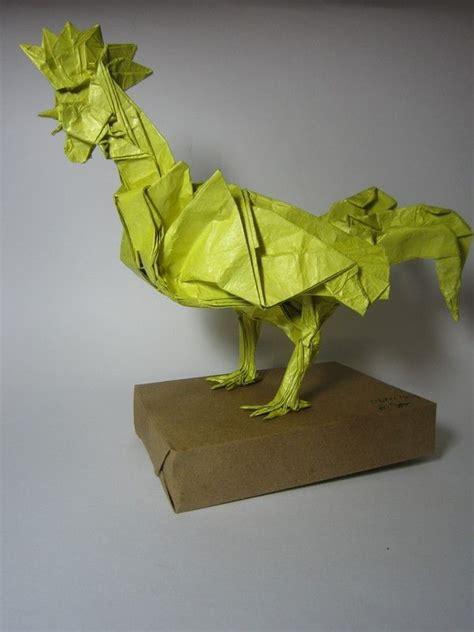 Origami Satoshi Kamiya - rooster satoshi kamiya origami roosters