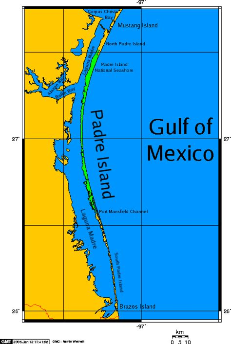 map of texas south padre island padre island