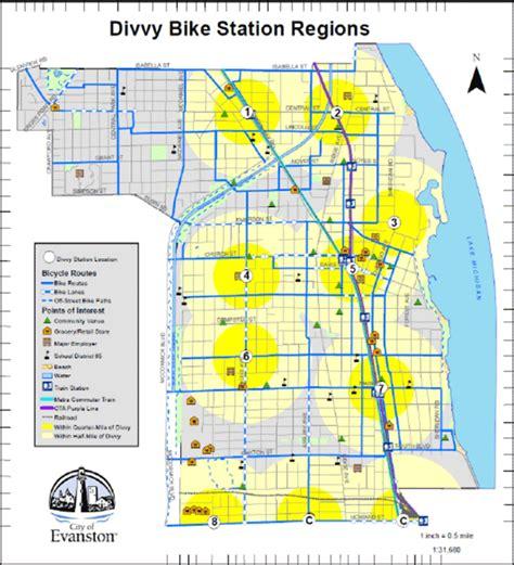 divvy bike map aldermen mostly agree on divvy bike locations evanston now