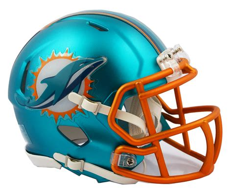 miami dolphins riddell blaze alternate speed mini helmet