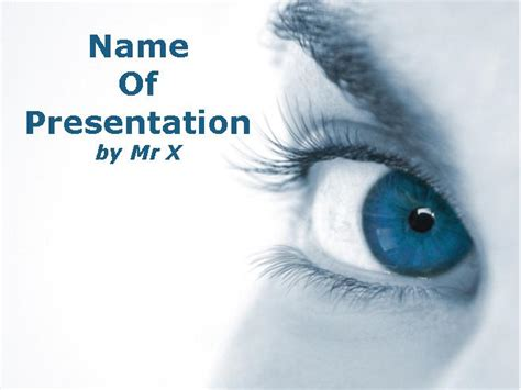 powerpoint templates free eye beautiful eye blue theme powerpoint template