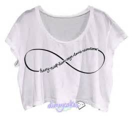 Infinity 1d One Direction 1d Directioner Infinity Crop Top