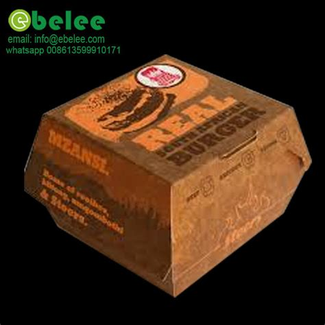 Kotak Produk by Burger Kertas Kotak Pembungkusan Bercetak Logo Pengeluar