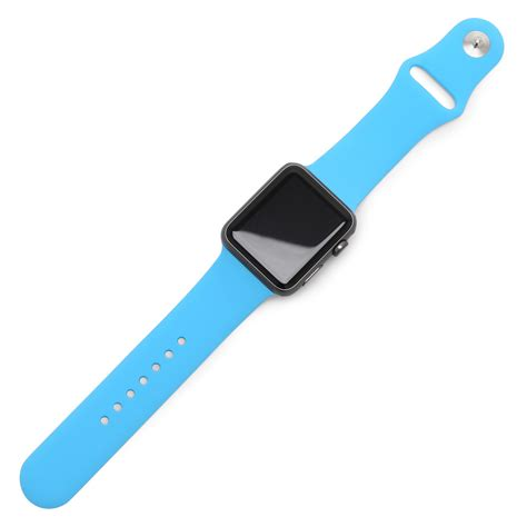 light blue apple watch band blue sport band for apple watch strapped co