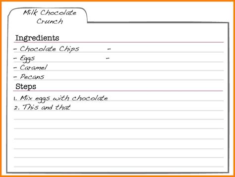 Fillable Recipe Card Template by 5 Free Editable Recipe Card Templates For Microsoft Word