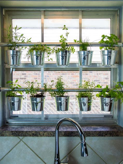 hanging window garden do it yourself window mounted hanging herb garden hgtv