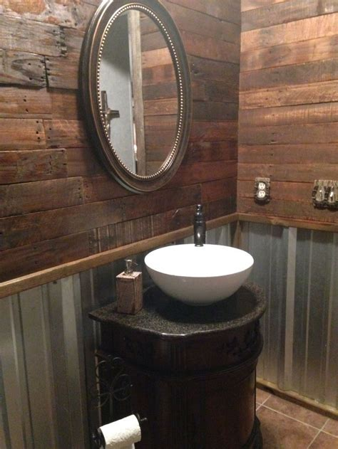 corrugated metal bathroom walls 25 best ideas about galvanized tin walls on pinterest