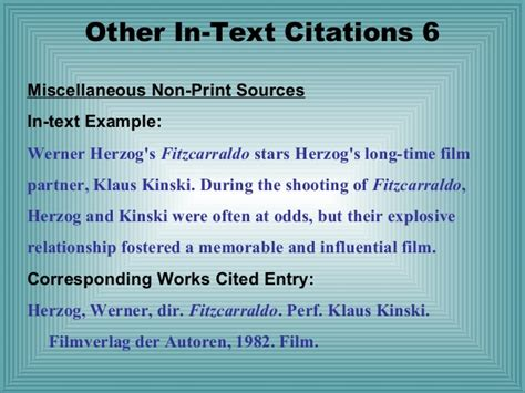 film mla in text citation mla format