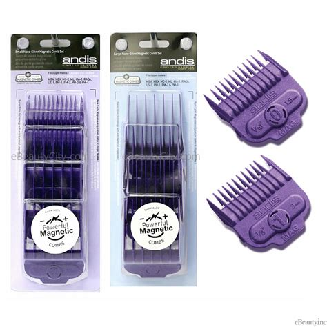 Andis Magnetic Clipper Comb Size 0 andis nano silver single magnetic comb set attachment combs