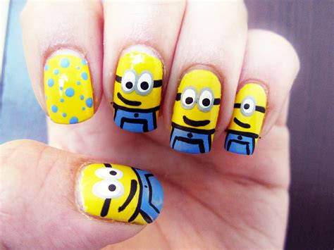 tutorial nail art minions minions nail art youtube