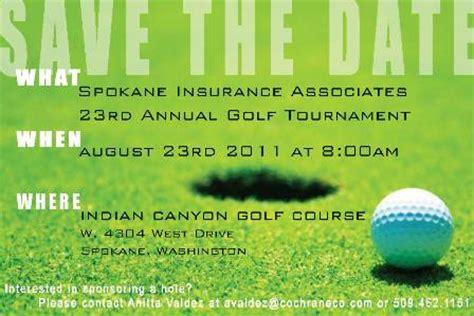 Spokane Insurance Associates Save The Date Golf Tournament Save The Date Template
